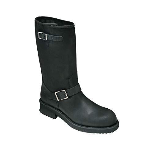 Botas de exterior Kochmann, color negro, talla 41, nubuk, botas de caña para hombre y mujer