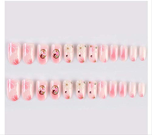 Silver Glitter Powder Drill Square Head Bride Photo Nail Art Wear Fake Nail Wholesale 24pcs A