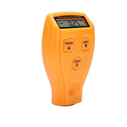 MAGT Misuratori di Spessore del Rivestimento, Mini Tester 1 PC di Mini Tester di Vernice per Auto LCD Portatile, misuratore di misurazione del rilevatore Digitale di Spessore del Rivestimento(Giallo)