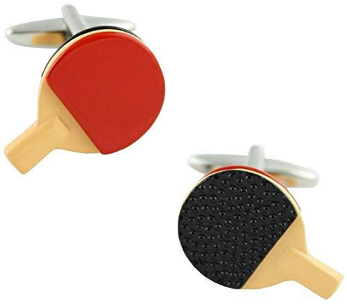 Ducomi Luxus-Kollektion Manschettenknöpfe aus Silber und Platégold – ultraleichte Manschettenknöpfe für Herren – Original von hoher Qualität – Geschenkidee Tischtennis