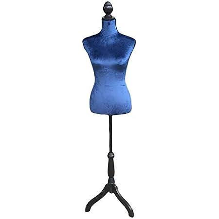 Schneiderbüste zur Anprobe als Kleiderständer oder Dekoration Velvet blue