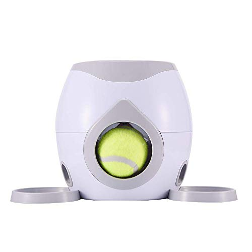 Kytree Interactive Tennis Ball Throwing Machine Launcher Jumping Ball Pitbull Toys Automatic Throw Pet Toys Pet Interactive Toys Pet Automatic Ball Launcher Toy for Cats and Dogs