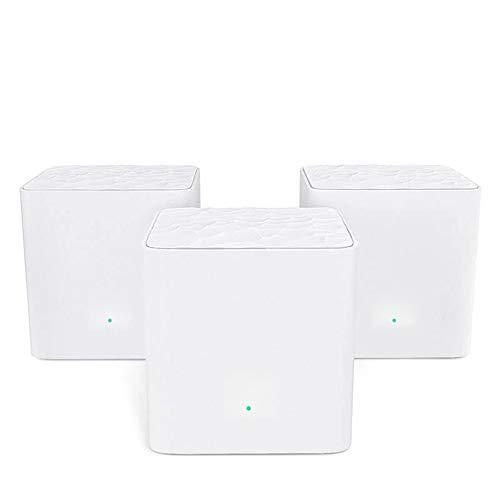 Ouqian Router Wireless Cable Mesh WiFi Router Gigabit Sistema con AC1200 2.4G / 5.0GHz WiFi Router inalámbrico Fácil configuración y Uso (Color : White, Size : 2PCS)