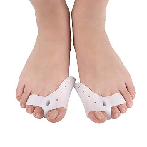 ZYXZ Gel Correctores de Dedos de Pie, Separador de Toe Espaciadores de Goma del Dedo Dolor Alivio Usadas para Deportes Actividades, Yoga Práctica y Férulas para Juanetes,Three Toes