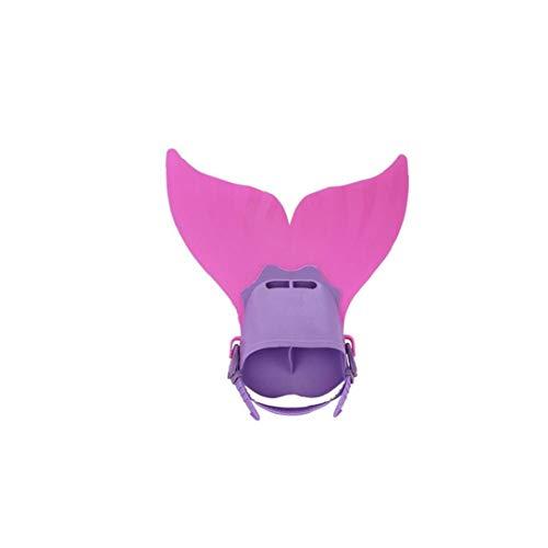 Desde Arriba Niños Snorkel Aletas De Natación Del Traje De Cola De La Sirena Mono Aleta Aletas Snorkel Aletas Para La Formación De Buceo Deporte Al Aire Libre De Agua Rosado Artículos De Interés