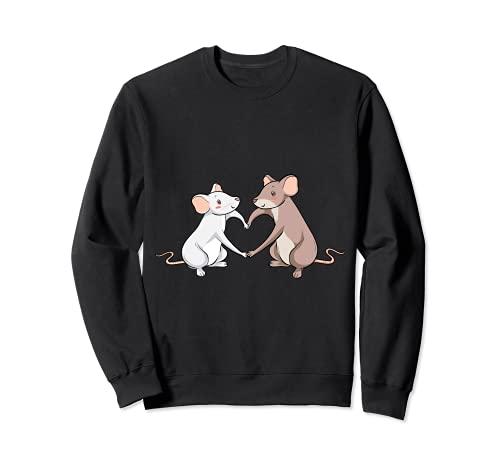 Rat Love Heart I Cool Rats Re e Mouse Motivo Felpa