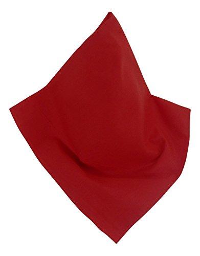 Unifarbenes Nickituch | Bandana in Rot | 55 x 55 cm | Halstuch | Teichmann