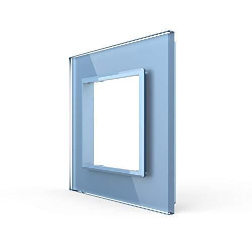 LIVOLO Alleen glazen kap 1 vak VL-C7-SR-19 blauw gekleurd stopcontact glazen frame glas afdekking