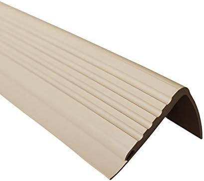 Treppenkante Selbstklebendes Treppenkanten-Profil Treppenprofil Treppenkantenprofil Treppe L-f/örmige rutschfeste PVC-Gummieckentreppe Anti-Rutsch-Streifen Anti-Fall-Kantenschutzleiste 2,5 * 5 * 100 cm