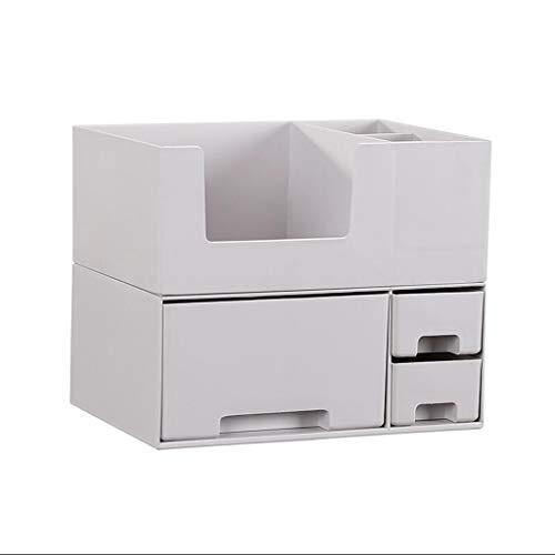 Yxsd Boîte de Rangement pour cosmétiques Boîte en Plastique pour Bureau de Finition Boîte de masquage pour tiroir Produits de Soins de la Peau Rack Rack Lipstick Rack (Color : Gray)