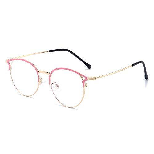 Blaulichtfilter Brille Anti Blaulicht Brille Katzenauge Computerbrille Ohne Sehstärke Metallgestell Brille Blockieren Blaulicht Pc Gaming Brille Damen Rosa Gold Rahmen