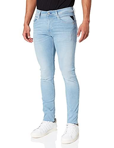 REPLAY Jondrill Hyperflex Re-Used Xlite Jeans, 010 Azul Claro, 30 W / 32 L para Hombre