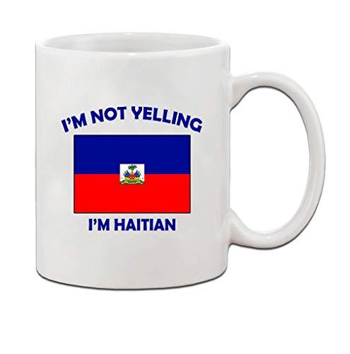 Ich schreie, ich bin Haitianer Haiti Haitianer Keramik Kaffee Teebecher Tasse Urlaub Weihnachten Chanukka Geschenk für Männer Frauen