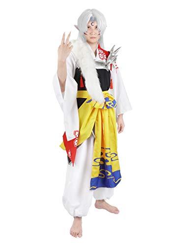 CoolChange Disfraz elaborado de Inu Yasha de Sesshomaru | Kimono & Hakama | Talla: L