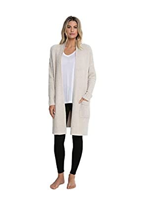 Barefoot Dreams CozyChic Lite Long Weekend Cardi, Bisque (Small) from Barefoot Dreams
