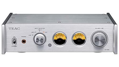 Teac AX-505-S Stereo Vollverstärker (115 Watt je Kanal, Stromsparfunktion, Kopfhörerverstärkerschaltung, Cinch-Eingang) Silber