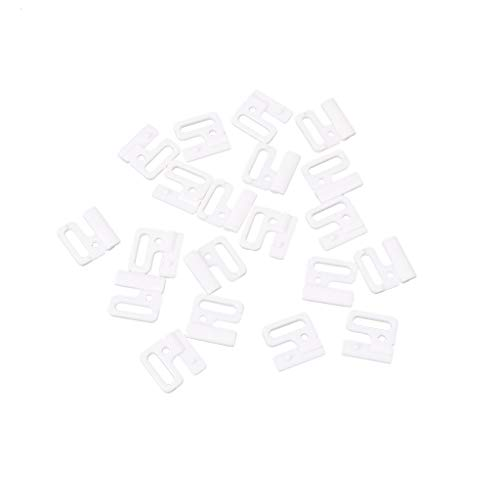 niumanery 10 x Craft Plastic Rectangle Tap Hooks & Clasp Sewing On Swimsuit Bra BIKINI White 14mm