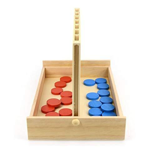 spier Juego de fila de madera,Juegos clásicos de estrategia de viaje de juegos,Juguetes de juegos de mesa familiares,Juego de mesa clásico convertible para familia