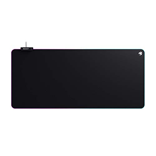 Roccat Sense AIMO XXL tapis de souris de jeu - Rétroéclairage AIMO LED, précision maximale, base antidérapante, (900 mm x 400 mm x 3,5 mm), noir