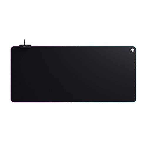 Roccat Sense AIMO XXL Gaming Mauspad - AIMO LED Beleuchtung, Höchstmaß an Präzision, gummierte Unterseite, (900 mm x 400 mm x 3,5 mm), schwarz