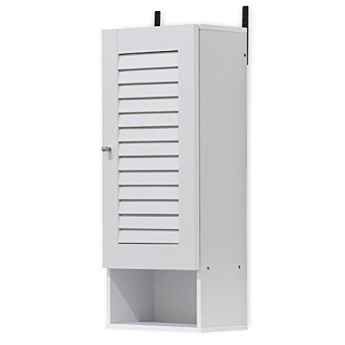 FURINNO Indo Slim Wall Cabinet, 11.8 Inch, White