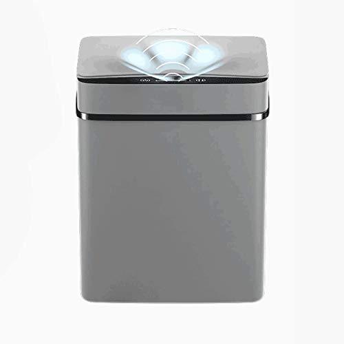 BWCGA 15L Pasada Inteligente de Basura automática Sensor Dustbin Sensor Smart Sensor eléctrico Bandeja de residuos de Casas Rubbish Can para la Cocina Baño de Basura (Color : C)