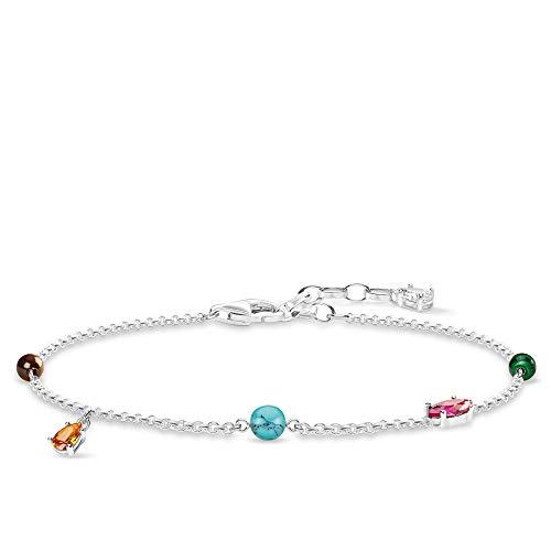Thomas Sabo Damen-Armband Farbige Steine 925er Sterlingsilber A1836-655-7-L19v