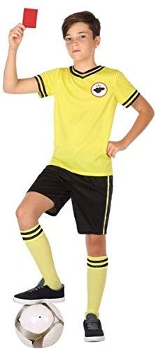 Costume da arbitro di calcio, per bambini e bambine, 3-12 anni