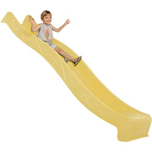Demmelhuber Rutsche WATERSLIDE 2,90 m mit Wasseranschluss für Spielturm Wellenrutsche Gartenrutsche Kinderrutsche Anbaurutsche Wasserrutsche - gelb