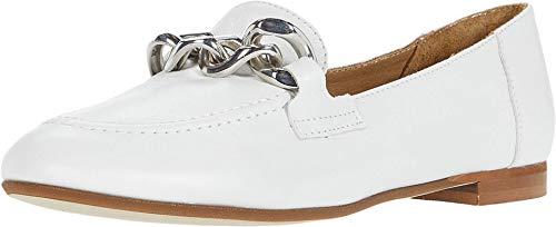 Donald J Pliner Women's Loafer, White, 8