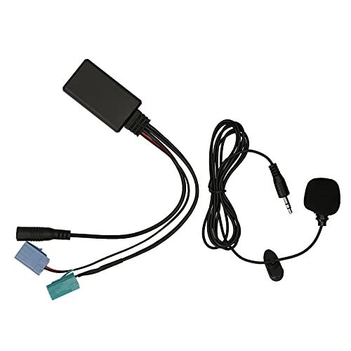 KKmoon Autoradio BT 5.0 Cavo Adattatore Musicale Audio Chiamata Telefonica Vivavoce AUX-in ISO 6 Pin Sostituzione per Renault Radio Elenco Aggiornamenti