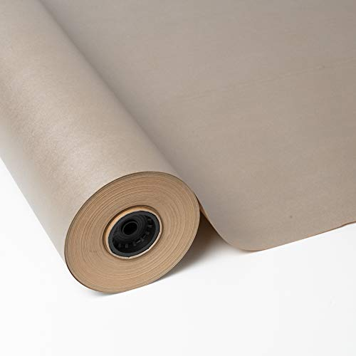PAKOT Rollo Papel de Regalo Kraft Reciclado - Bobina Grande de 70cm x 100M - Color Liso Plata