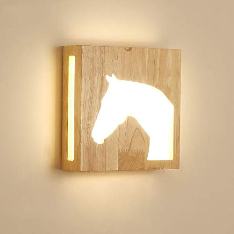Wdacczq Wandlampe Moderne Stil Led Lampe InnenHolz Geeignet Für Schlafzimmer Wohnzimmer Schlafzimmer Studie 12 Watt (Warme Farbe)