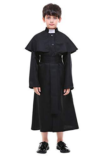 Tollstore Kinderkostüm Pfarrer Priester Halloweenkostüm Kinder Pastor Christian Jesus Kostüm L
