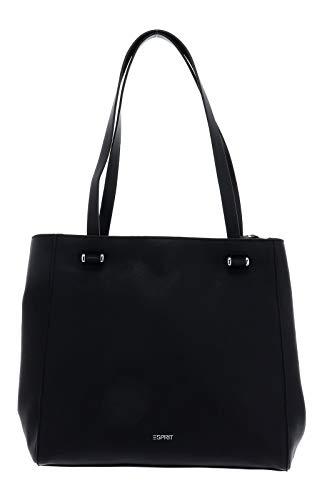 ESPRIT Damen Handtasche Tasche Schultertasche Alison Shopper Schwarz 129EA1O018