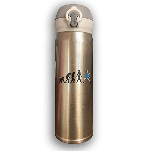 Sport-Trinkflasche, Reisebecher-Vakuumflasche, Stainless Water Bottle Thermal Insulated Cup With Bounce Cover Design Evolution Badminton,17 Oz