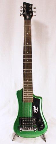 Hofner - Guitarra el?ctrica de viaje, color verde