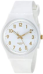 Swatch Classic Quartz Silicone Strap, White, 16 Casual Watch Model: GW164 - best white nursing watch for medical professional and nursing student