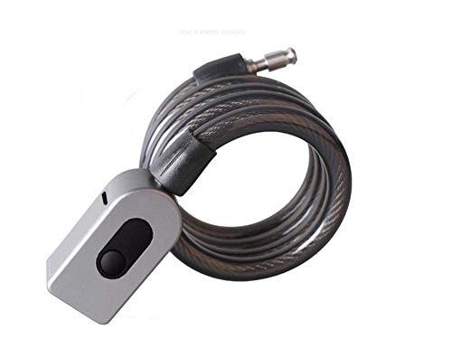 Cerradura de acero del anillo de bloqueo cerradura de la huella de bicicletas Mountain Bike Lock bloqueo antirrobo bicicleta de carretera cerradura de acero del cable fijo de bicicletas de bloqueo @ g