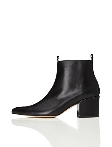 find. Damen Ankle Boots mit Blockabsatz, Schwarz (Black), 38 EU