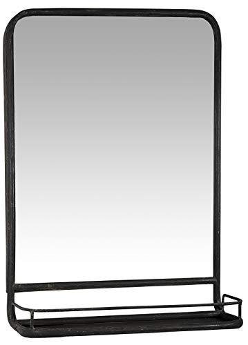 IB Laursen - Wandspiegel mit Ablage, Metall, Schwarz, B 14 x H 70 x L 49cm (3129-25)