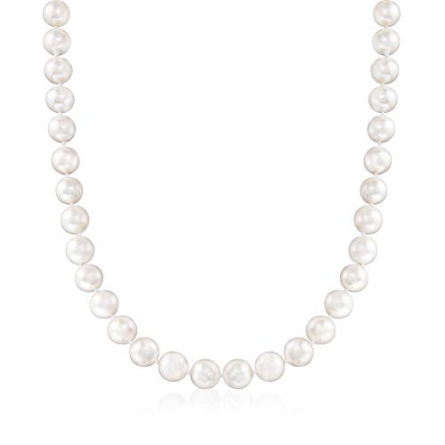 Ross-Simons 10-11mm Cultured Pearl Necklace With Sterling Silver Magnetic Clasp. 18 inches