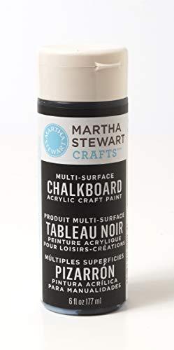 Martha Stewart Crafts Martha Stewart Multi-Surface Chalkboard Black, 6 oz Paint