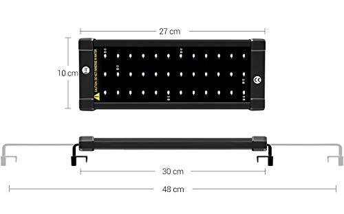 Nicrew Aquarium LED Beleuchtung, LED Aquarien-Aufsetzleuchte Passend für Aquarien 28 bis 50 cm, 6W - 8