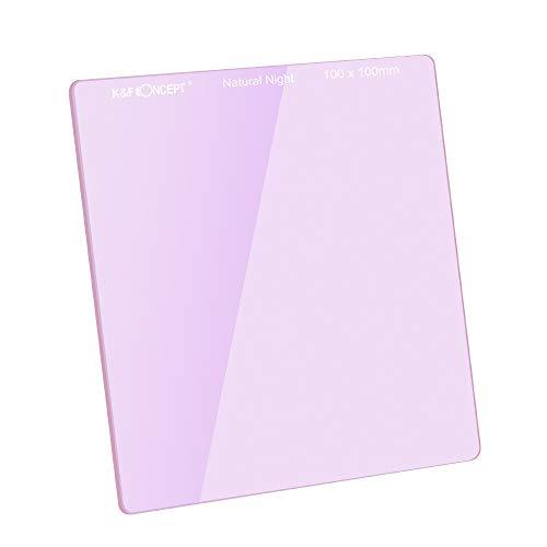K&F Concept Filtro Cuadrado de Color Morado 100x100x2.0mm para Fotografia Impermeable para Intensificar el Color del Cielo