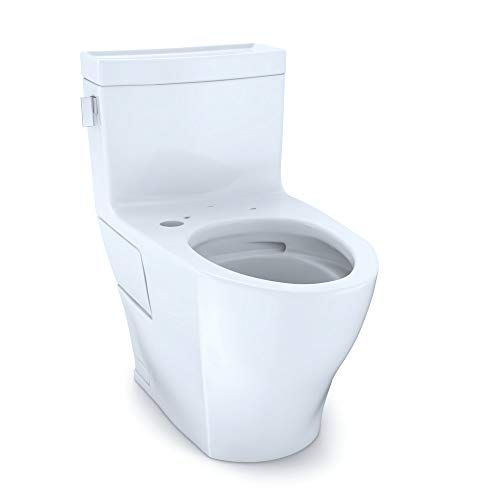 Toto CST624CEFGAT40#01 Legato 1.28 GPF One Piece Elongated Chair Height Toilet with Tornado Flush Technology - Less Seat