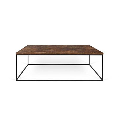 Paris Prix - Temahome - Table Basse Gleam 120cm Rouille & Métal Noir