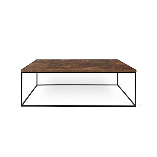 Paris Prix - Temahome - Table Basse Gleam 120cm Rouille & Métal Noir