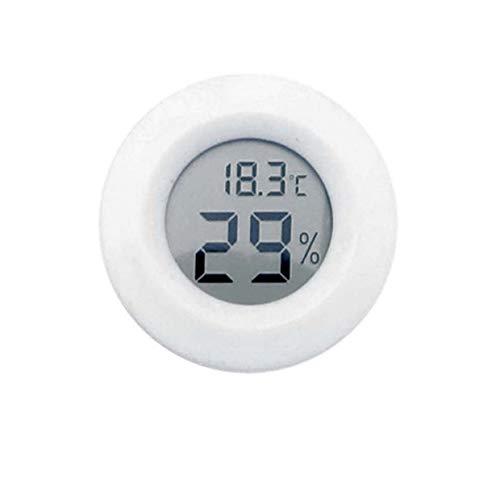 YUIO Kleine LCD Digital Thermometer Hygrometer Eidechse Schildkröte Frosch Netz Box Kletterbox Thermometer Elektronisches Hygrometer - weiß