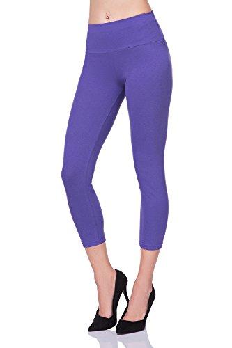 FUTURO FASHION® - Legging court de sport - taille haute/empiècement gainant - LWP34 - Violet - 50
